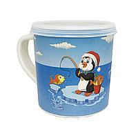 """Еко-чашка з кришечкою """"Пінгвін"""", фото 1"""