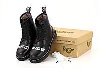 Кожаные ботинки с мехом Dr. Martens 1460 Sex Pistols God Save Queen (Зимние ботинки Доктор Мартинс 36-45)