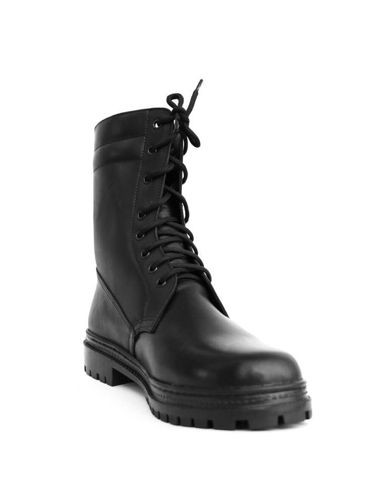 Берцы (ботинки с высокими берцами)  кожа Скорпион бортопрошивные НАТО Осень демисезон черные