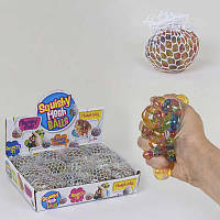 """Игра-антистресс """"Мозги"""" С 37614 (24) ЦЕНА ЗА 12 ШТУК В БЛОКЕ, в сетке, с гидрогелевыми шариками, диаметр"""