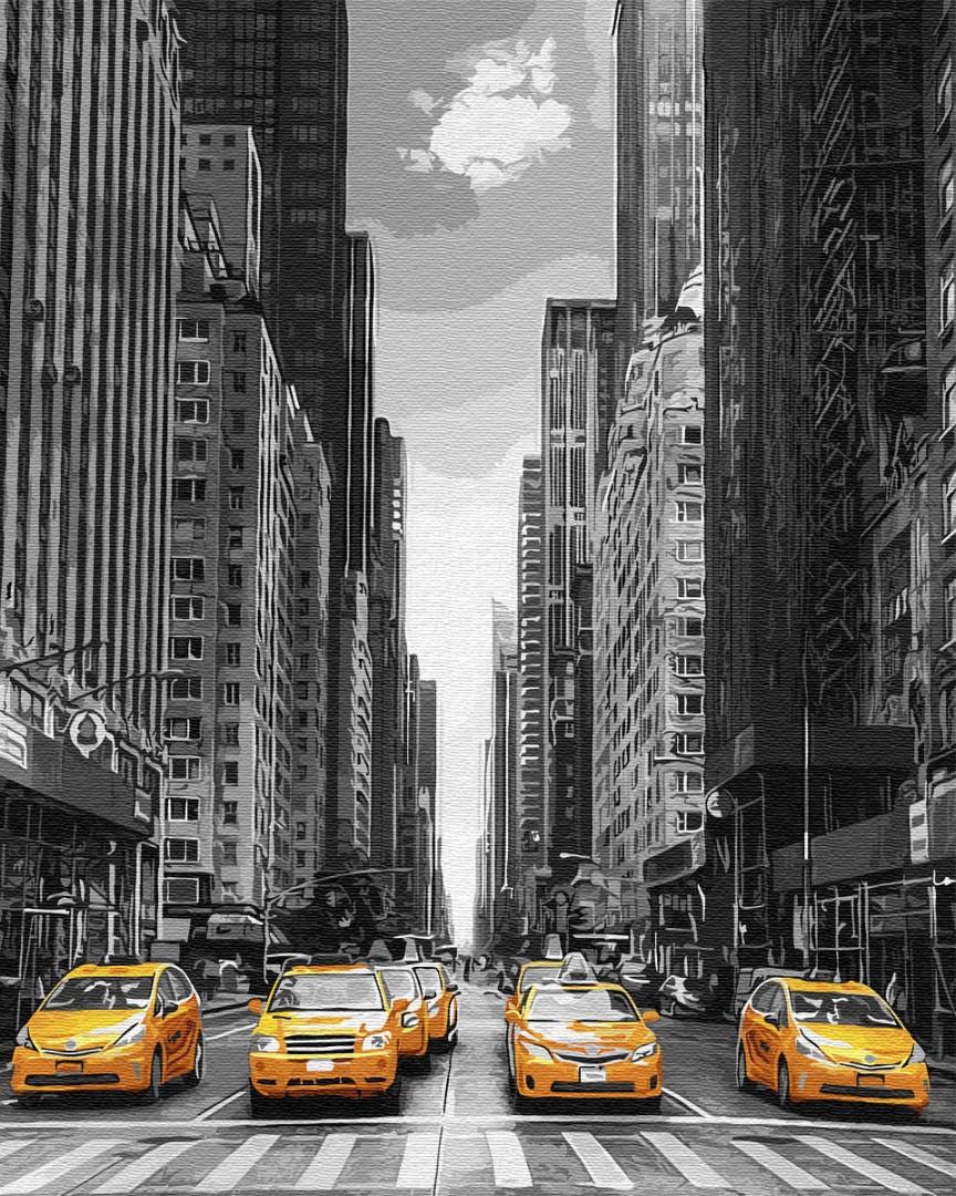 Картина по номерам Такси Нью-Йорка 40х50 Yarik's (без коробки)