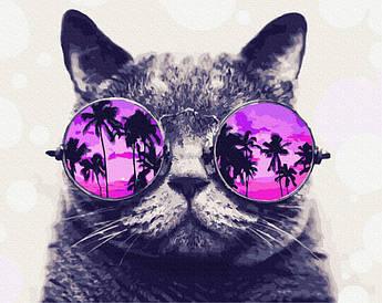 Картина по номерам Тропический кот 40 х 50 см (PGX29637) Премиум набор