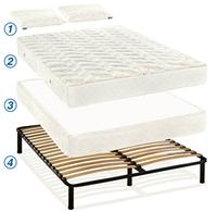 Кровать с матрасом и подушкой недорого