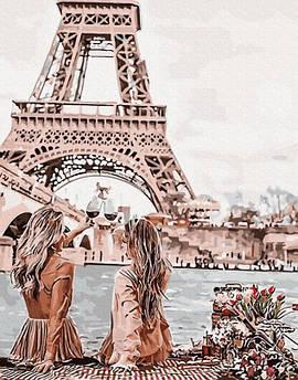 Картина по номерам Подружки в Париже 40 х 50 см (PGX30103) Премиум набор