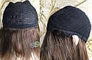 💎Натуральный женский парик коричневый с чёлкой, натуральный волос 💎, фото 7
