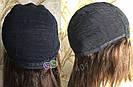 💎Натуральный женский парик коричневый с чёлкой, натуральный волос 💎, фото 6