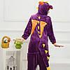Кигуруми піжама Дракон піжама комбінезон фіолетова S, фото 7