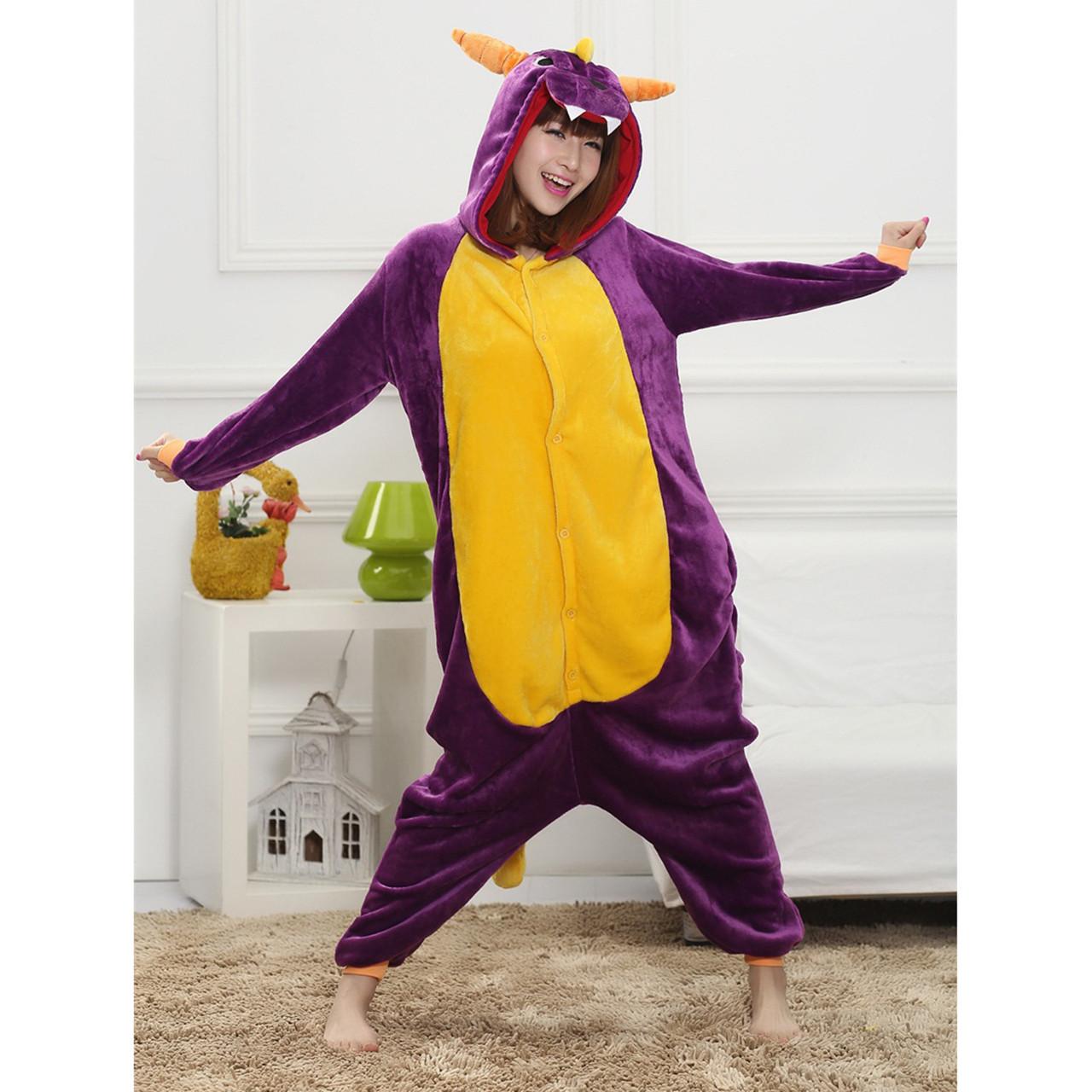 Кигуруми піжама Дракон піжама комбінезон фіолетова S