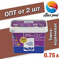 Aura Luxpro Remix Anticor RAL 8017, темно-коричневая 0,75 л Грунтовка-эмаль антикоррозионная акриловая