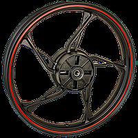 CR1S JL200-68A Колесо заднє, алюмінієвий диск 2.15×17 Loncin - 290220553-0001 / 290220553-0004