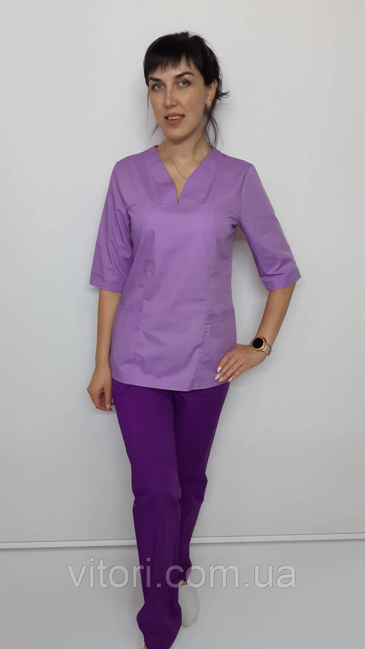 Женский медицинский костюм Кенди хлопок три четверти рукав