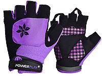 Велорукавички PowerPlay 5284 Фіолетові S