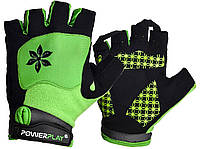 Велорукавички PowerPlay 5284 B Зелені S