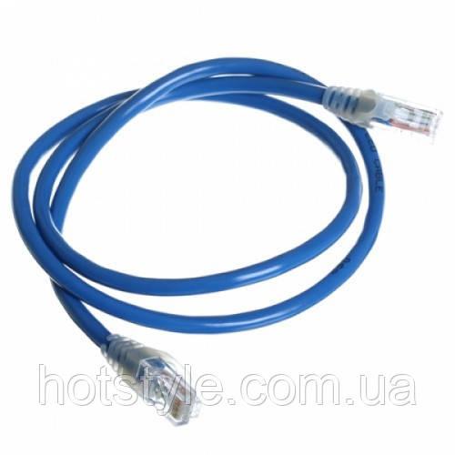 Патч-корд RJ45 1.8м, сетевой кабель UTP CAT5e 8P8C, LAN, синий, 103055