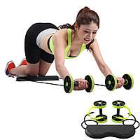 Универсальный силовой фитнес тренажер Revoflex Xtreme для всего тела ролики для пресса, спины, рук и ягодиц