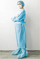 Халат одноразовый нестерильный голубой - 03603