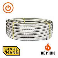 Труба гофрированная из нержавеющей стали SS304 Stahlmann IWS, 15 A неотожженная, 100м, шт