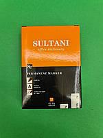 Маркер перманентный тм SULTANI 1.0 mm код424 (большой ,черный) (12 шт), фото 1