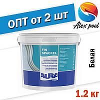Aura Luxpro FIN Spackel 1,2 кг, белая - акриловая шпатлевка для высококачественной отделки потолков и стен