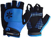 Велорукавички PowerPlay 5284 D Блакитні XS