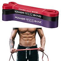 Набор спортивной резины 4FIZJO Power Band 4FJ0002 6-26 кг резиновый эспандер-петля жгут для тренировок 3 шт