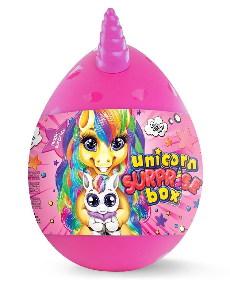 Игра - подарок - набор для творчества - большое яйцо с единорогом 29 см Unicorn Surprise Box USB-01-