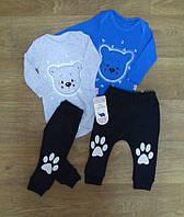 Костюм для новорожденных турецкий (боди + штанишки), интерлок, турецкий детский трикотаж, ясельная одежда