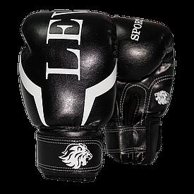 Детские перчатки для бокса 6 oz Лев кожзам (красные, синие, черные)