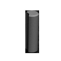Столбик круглый h 26 см, коричневый