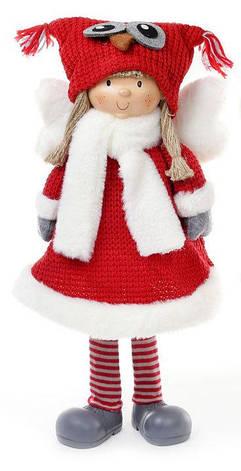 Мягкая новогодняя игрушка Ангел в шапке сова 52 см. (822-133), фото 2