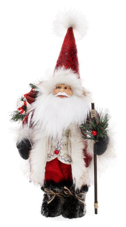Мягкая новогодняя игрушка Санта 40см