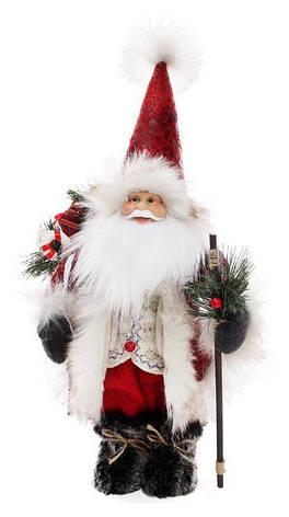 Мягкая новогодняя игрушка Санта 40см, фото 2