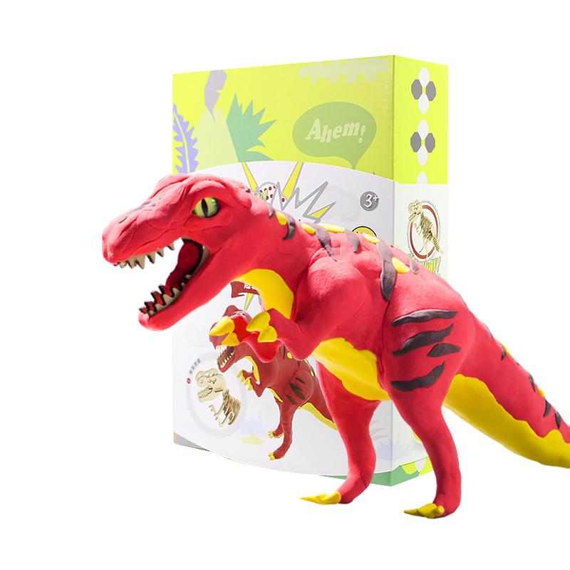 Деревянный конструктор + лепка Robud FY01 Тираннозавр набор для творчества