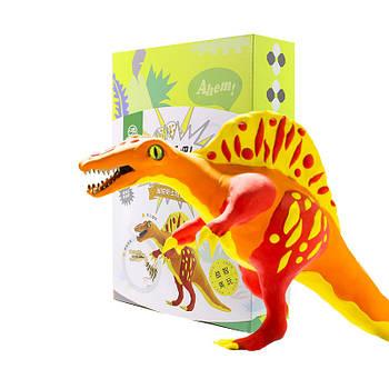 Деревянный конструктор + лепка Robud FY02 Спинозавр набор для творчества