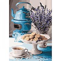 Картина за номерами Ідейка «Лавандова чаювання» 35x50 см (КНО5558), фото 4