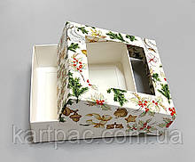Коробка картонная для конфет без вставки 110*110*37 (НГ21)