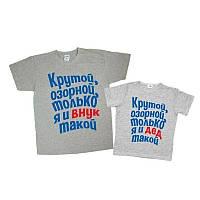 """Парные футболки Family Look  """"Внук и Дед""""  Push IT"""