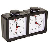 Шахматные часы механические пластиковые Шахматный таймер LEAP Zelart Черный PQ9905 (IG-9905)