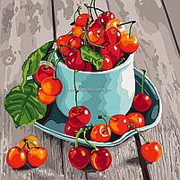 Картина по номерам Идейка «Черешневые вкусности» 40x40 см (КНО5552), фото 4