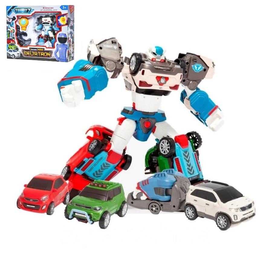 Детский игровой набор робот Tobot Deltatron из серии тоботы с роботом-трансформером, игровыми фигурками героев