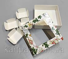 Коробка картонная для конфет с вставкой 110*110*37 (НГ21)