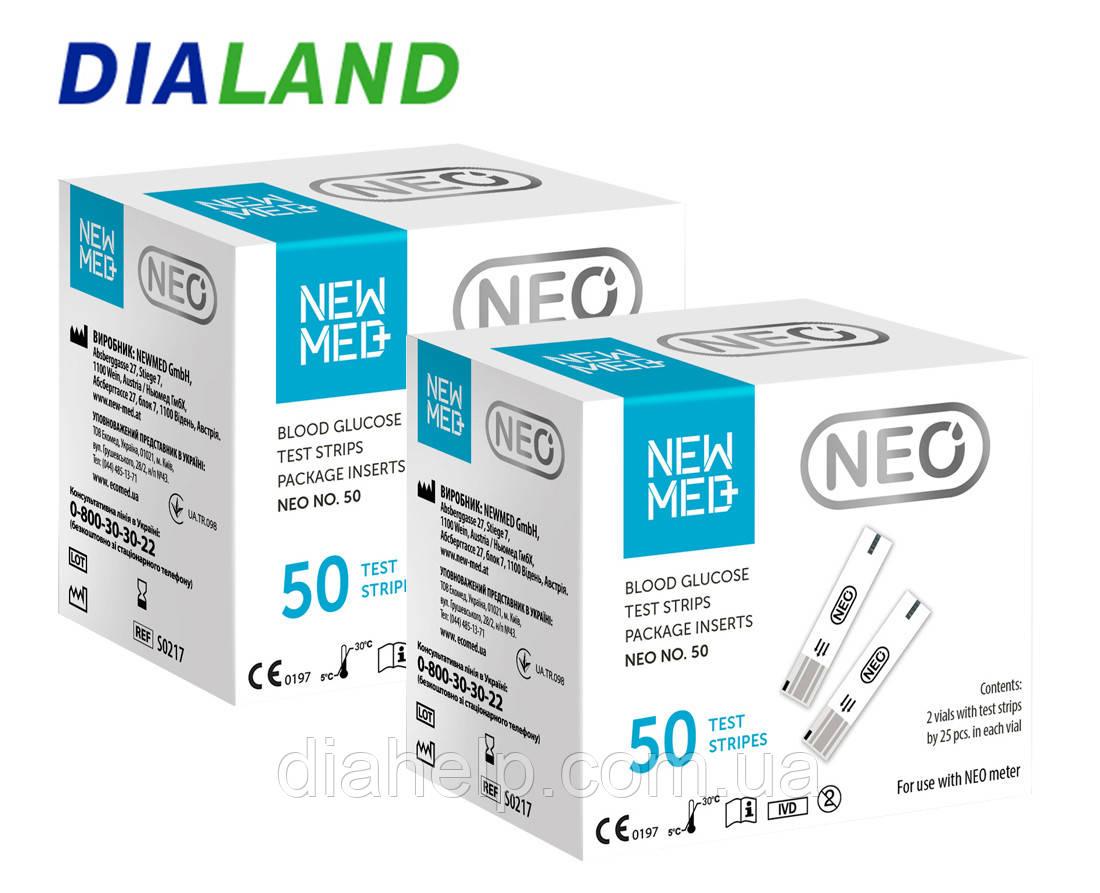 Тест-смужки Нью Мед НЕО (New Med Neo) 2 упаковки - 100 штук