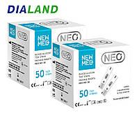 Тест-смужки Нью Мед НЕО (New Med Neo) 2 упаковки - 100 штук, фото 1