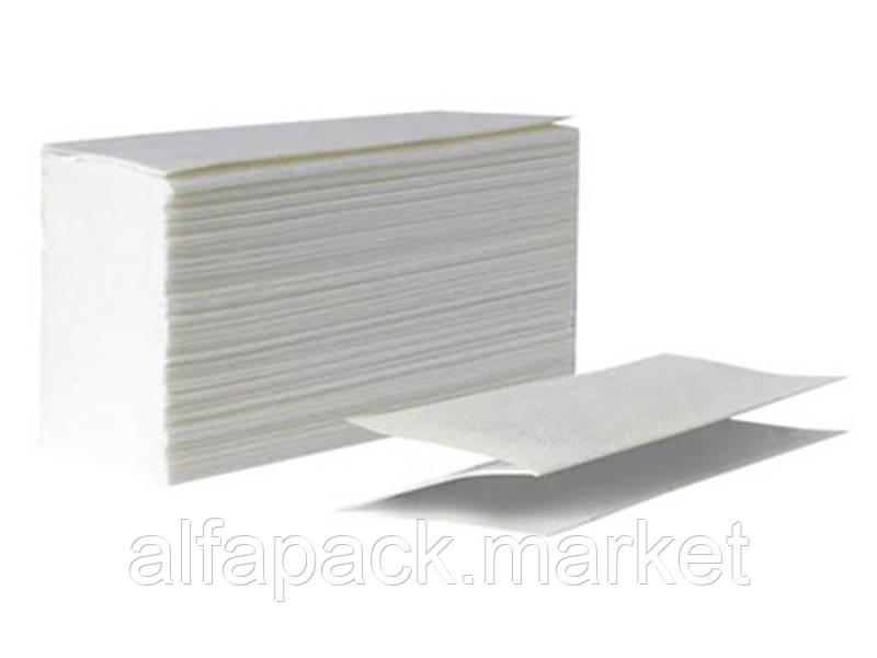 Полотенце бумажное V складка, 2х слойный белый 070200107
