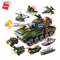 Набор конструкторов Qman военная техника 8 шт