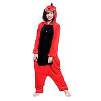 Кигуруми красный Дракон пижама подростковая костюм комбинезон кигуруми