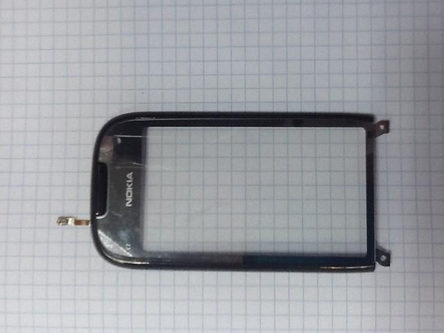 Сенсорный экран Nokia C7-00, черный, копия, с рамкой