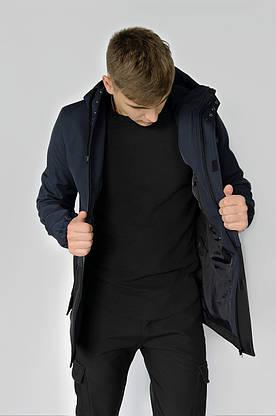 """Куртка мужская синяя черная Softshell демисезонная """"Citizen"""" Intruder осенняя весенняя на флисе+Ключница, фото 3"""