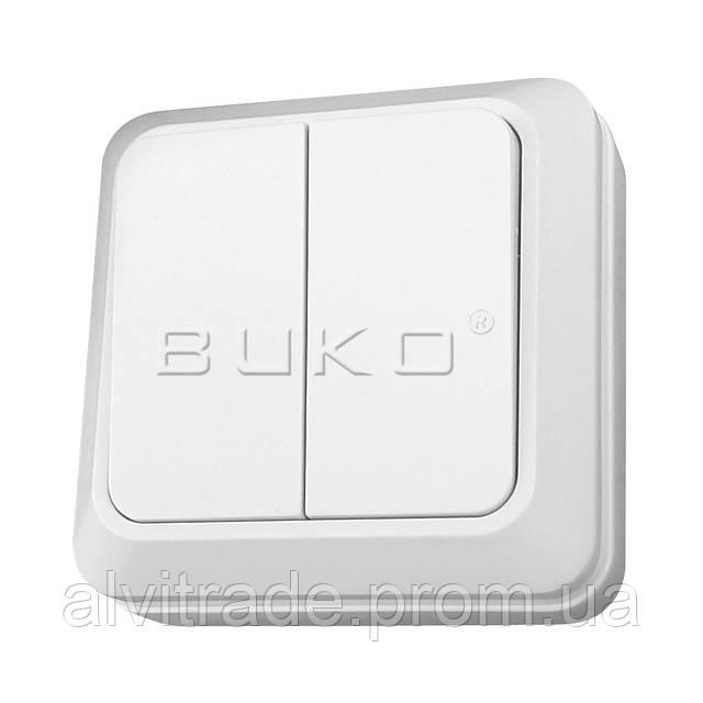 Выключатель 2 BUKO белый