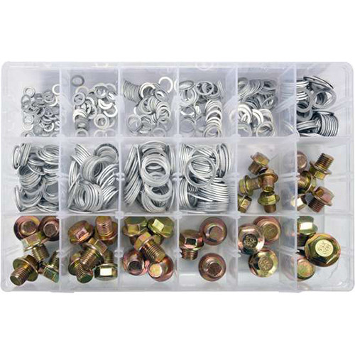 Набір алюмінієвих шайб і заглушок 534 шт. YATO YT-06862 (Польща)